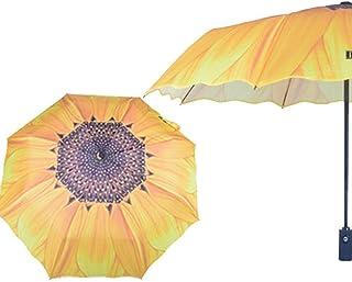 Umbrella Windproof Umbrella Folding Automatic Parasol Dual Use Fashion (Size : A)