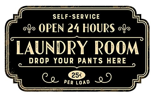 Zazzy Signs Rustic Laundry Room Wall Decor Sign - Vintage Distressed Metal - 17x13 Inch
