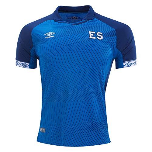 Umbro Men's El Salvador Home Jersey-Blue (L)