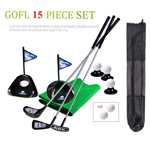 Golf Pro Set Spielzeug für Kinder Kleinkinder Metall Golf Clubs Fahnen Übungsbälle Sport Indoor Game Golf 24 Zoll Training 17 STÜCKE w/Rucksack