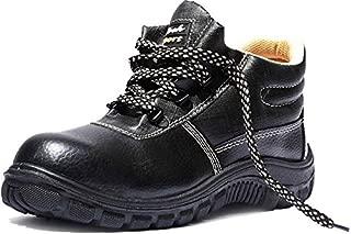 Safari Pro TYSN_8 Rocksport Tyson Micro Leather Style Safety Shoes, Black, 8 Inch