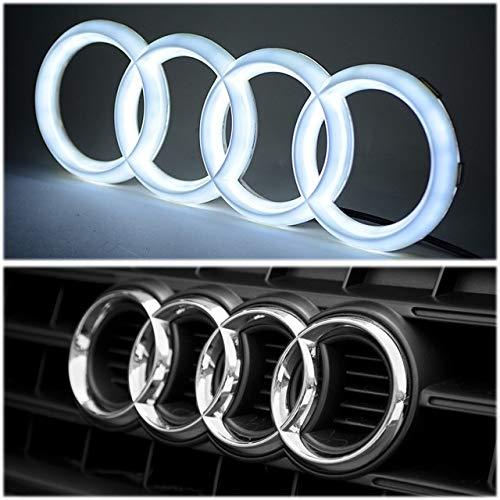 Gabriel LED-Emblem, Kühlergrill-Emblem, Auto-Emblem, beleuchtetes Logo, leuchtende Ringe, Lichter, Tagfahrlicht