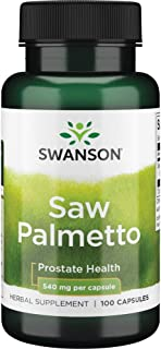 Swanson Saw Palmetto Herbal Supplement for Men Prostate Health Hair Supplement Urinary Health 540 mg 100 Ca...