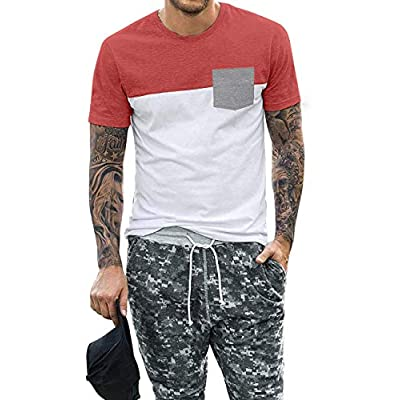 Amazon - Save 70%: APRAW Men's Hipster T Shirt Contrast Color O Neck Casual Short Sleeve T-Shi…
