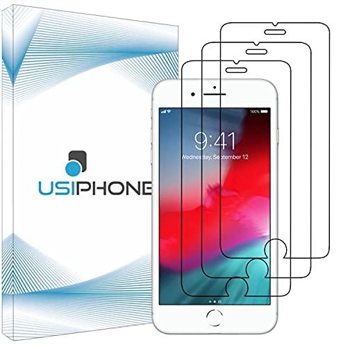 """UsiPhone Lot de 3 Verre Trempé Compatible avec Iphone 8 - Vitre Iphone 7 - Film Ecran en Verre Trempe 9h - Protection Iphone 6s - Protege Écran Iphone 6 (4.7"""") Ecran Incassable"""