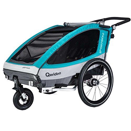 Qeridoo Sportrex2 Kinderfahrradanhänger (2018) - Aquamarin