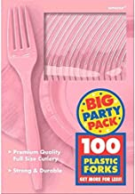 Amscan Pink Plastic Fork Party