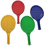 ND Sports Garden Plastic Tennis Bats Set/Swingball Bats/Plastic Rackets Pack of 4 UK Stock