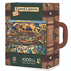 Image: MasterPieces Travel Suitcases Grand Canyon Jigsaw Puzzle, Art by Eric Dowdle, 1000-Piece