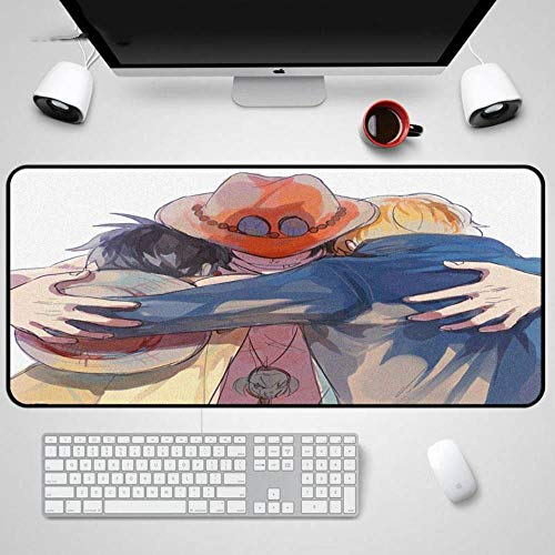 Twhoixi One Piece Mouse Pad Notebook Straw Hoed Piraten Computer PC Laptop Muis Mat Game Tafelmatten, Eén maat, seiu153750