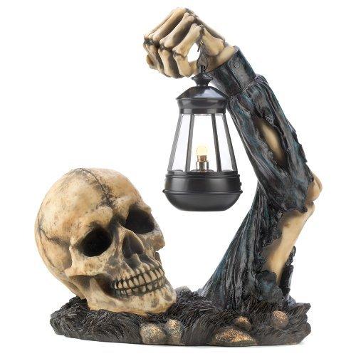 Gifts & Decor Sinistre Tête de Mort avec Lanterne fête d'halloween Décoration de Dragon Verrerie
