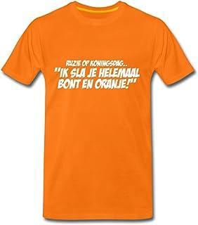 Spreadshirt Bont En Oranje Grappige Koningsdag Mannen Premium T-shirt