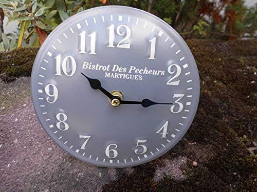 Kleine Standuhr/Tischuhr Bistrot De Pecheurs - Eisen grau 15 cm