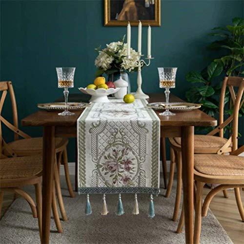 boyue Cotton Linen Decorative Table Runner forDinning Room