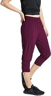 Rockwear Activewear Women's 3/4 Rouched Pant Bordeaux 8