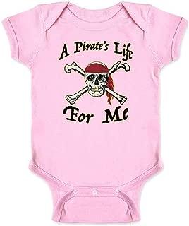 A Pirate's Life for Me Skull Halloween Costume Infant Baby Boy Girl Bodysuit