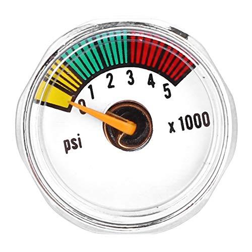Micro Gauge Paintball, 1/8''NPT Manometer Kompressor Manometer Luft Öldruckmesser for Paintball PCP Luftgewehr (Größe : 5000psi)