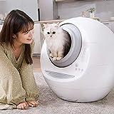 ZPCSAWA Arenero Gatos Autolimpiable Automatico, Caja de Arena Eléctrica Inodoro de Limpieza Automática para Gatos, Inodoro Robot para Gatos con Autolimpieza y Detección de Gravedad