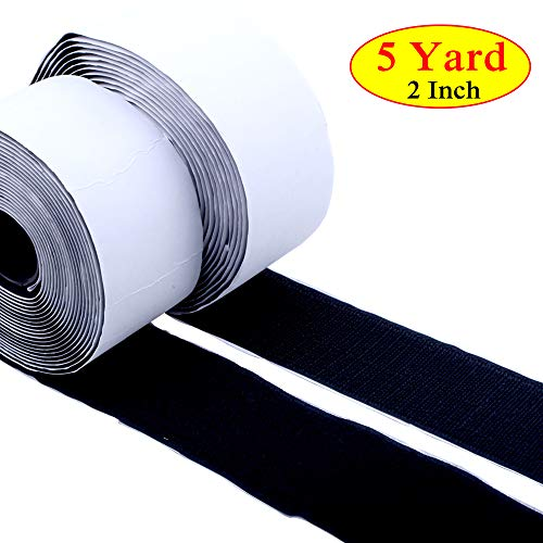 Hook Loop Tape roll Strips Adhesive Back Mounting Tape-2 inch x 16 Foot for Picture and Tools Hanging Pedal Board Fastening