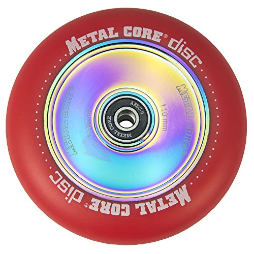 Metal Core Rueda Disc para Scooter Freestyle, Diámetro 110 mm (Rojo)