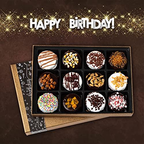Barnett's Chocolate Cookies Birthday Gift Basket for Women & Men Gourmet Happy Birthdays Cake Box Arrangements Husband Wife Mom Dad Unique Cookie Baskets Flavors Idea Boyfriend, Girlfriend