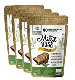 Multi-Millet Rusk - Curry Leaf - No Maida or Sugar No added flavours Preservative Free - Pack of 4