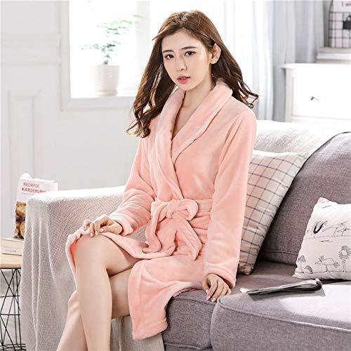 SMYFM Badjas Chinese Vrouwelijke Koraal Fleece Robe Kimono Jurk Winter Dikke Warm Nachtjapon Slaapmode Vrouwen Casual Thuis Wear Plus Size 3XL