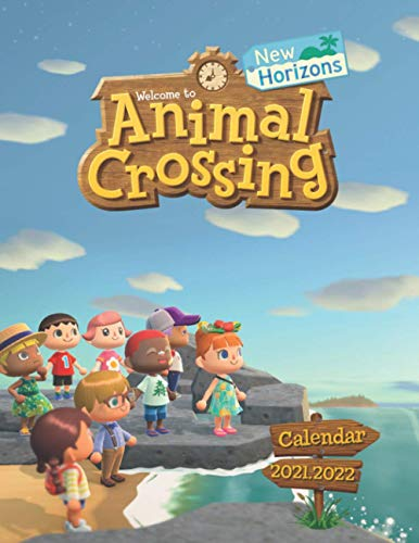 Animal Crossing: New Horizons: 2021 – 2022 Games Calendar – 18 months – 8.5 x 11 Inch High Quality Images