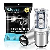 ALOPEE 2-Pack 1157 BAY15D 7528 2057 2357 Brilliant Rouge LED Lumière, Non-Polarité 10-30V-DC 5050 18 SMD Remplacement Ampoule Pour Feu de Freinage