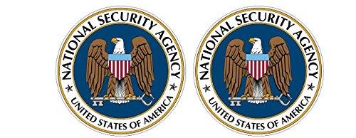 NSA National Security Agency Aufkleber US USA Logo CIA FBI Homeland Police Polizei Sticker / Plus Schlüsselringanhänger aus Kokosnuss-Schale / Auto Motorrad Laptop Notebook Tuning Racing Motorsport