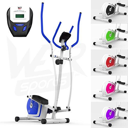 We R Sports Elliptique Traverser Entraîneur & Exercice Vélo 2-en-1 Maison Cardio Faire du Sport (Noir)