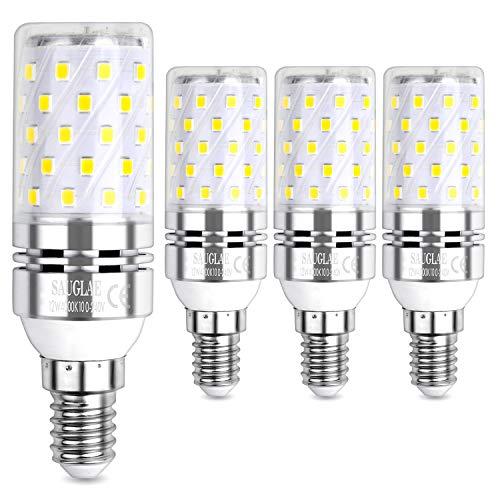 Sauglae LED Ampoule à Maïs 12W, 100W Équivalent Ampoules à Incandescence, E14 Petites Vis Edison, 4000K Blanc Neutre, 1200LM, Pack of 4