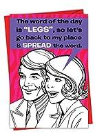 Spread the WordのバレンタインデーFunny Paperカード 1 Valentine's Day Card & Envelope (SKU:7362)