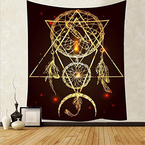 Pluma psicodélica colgante de pared arte tapiz de tela de pared alfombra de fondo estera de yoga tapiz de tela de fondo A1 73x95 cm