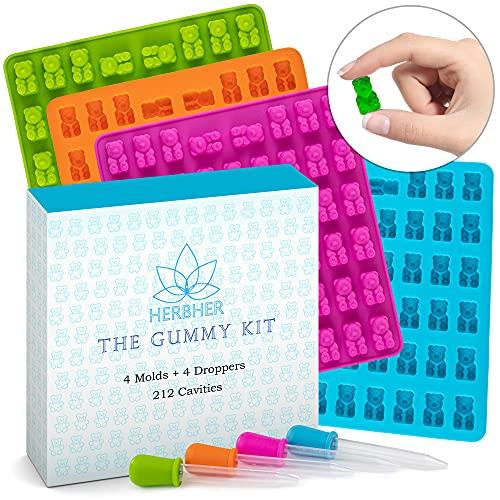 Gummibär-Silikon-Formen – Set von 4...