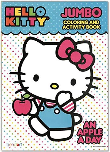Hello Kitty an Apple A Day Jumbo Activity and Coloring Book for Kids Toddlers - 96 pgs