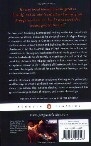 Fear and Trembling (Penguin Classics)
