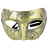 Fliyeong Mens Adult Masquerade griechisch-römische Gesichtsmaske für Kostüm Maskenball Kupfer kreativ und nützlich
