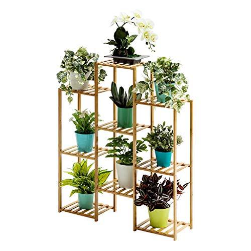 Porte-fleurs Bamboo Landing Multi-layer Rack pour succulentes intérieur Support pour balcon (taille : 83 * 25 * 100cm)
