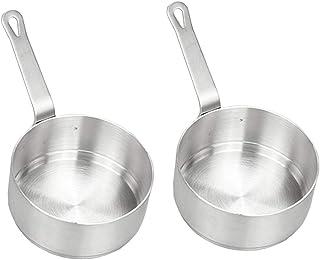 P PRETTYIA 2 unds Sartenes Antiadherente Cazo de Sopa Prefecto para Calentar Leche Universal