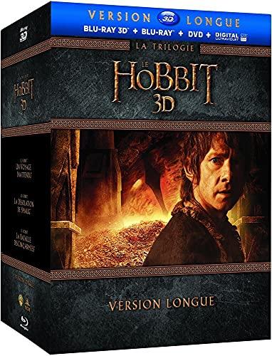 Le Hobbit - Version Longue - La Trilogie - Coffret Blu-Ray 3D + Blu-Ray [Version longue - Blu-ray 3D + Blu-ray + DVD + Copie digitale]