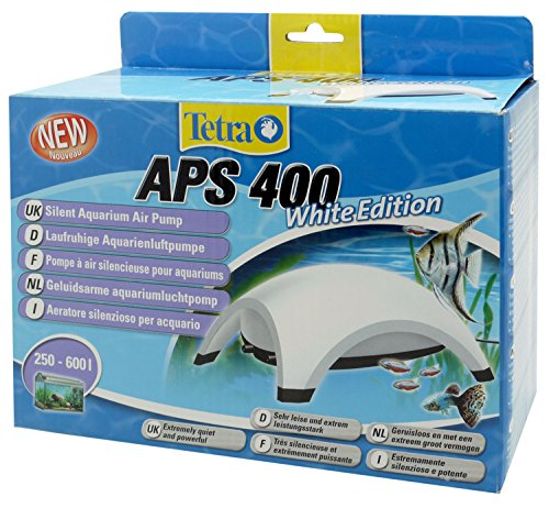 Tetra APS300 Stille Aquarium Luchtpomp, 250-600 Litre, Kleur: wit