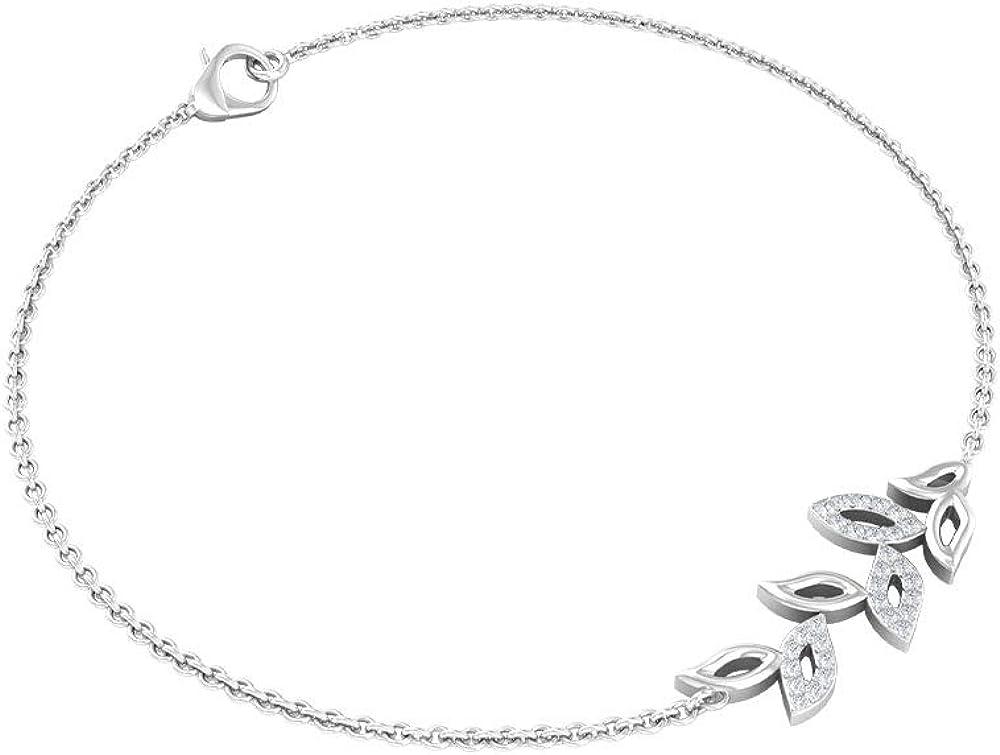 Custom 0.11 CT Diamond Charm Ranking TOP5 Sale special price Bracelet Petal for Women Antique S