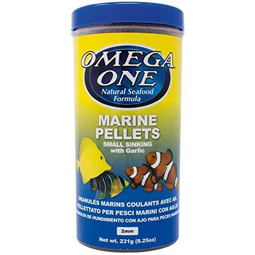 Omega One Garlic Marine Pellets, Sinking, 2mm Small Pellets, 8.25 oz