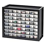 IRIS USA Parts and Hardware Cabinet, 64 Drawers, Black