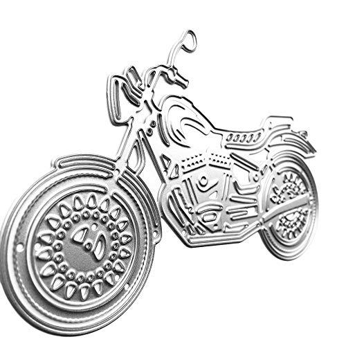 Meclelin Stanzschablonen Motorrad, Stanz und Prägeschablonen Stanzen Schablonen Scrapbook Stanzformen, Zubehör für Big Shot und andere Stanzmaschine