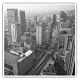 Impresionantes pegatinas cuadradas (juego de 2) 10 cm BW – Bogotá Cundinamarca Colombia Divertidas calcomanías para portátiles, tabletas, equipaje, reserva de chatarras, neveras, regalo fresco #42613
