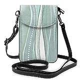 Bolso de hombro cruzado para mujer bolsa de teléfono Castaways C Mar gris verde oscuro 150 monedero titular de la tarjeta dinero organizador bolso cuero PU