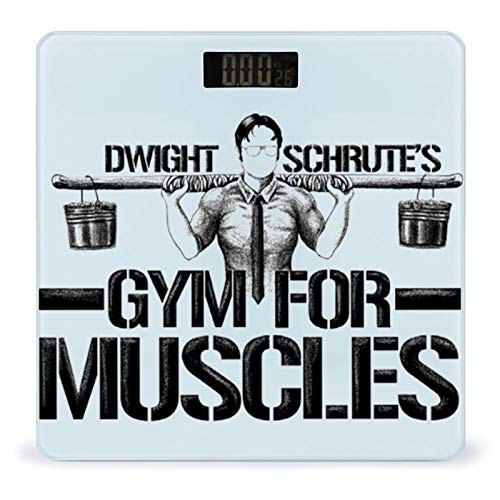 Weight Scale Body Fit Scale Digital BMI Weight Scale Dwight Schrute's Gym for Muscles Flag Smart Digital Weighing Scale Toughened Glass