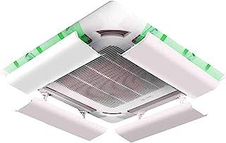 Wind Greating Deflector de Aire Acondicionado para Aire Acondicionado Central de Techo Plástico Liviano áNgulo Ajustable, Fácil Instalación Evita Que el Aire Frío Sople Recto (Una Pieza)(60cm)